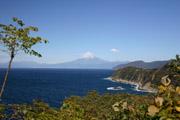 恋人岬からの富士山の壁紙