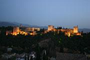 グラナダ アルハンブラ宮殿夜景の壁紙