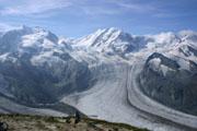 モンテローザと氷河の壁紙